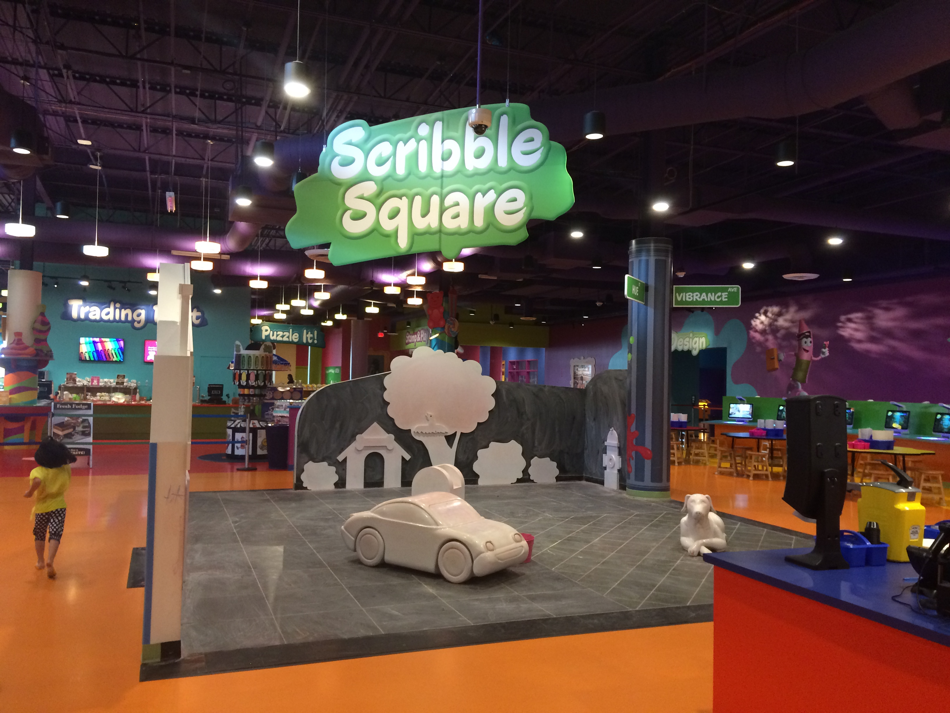 Scribble Square where kids can literally color all over EVERYTHING!
