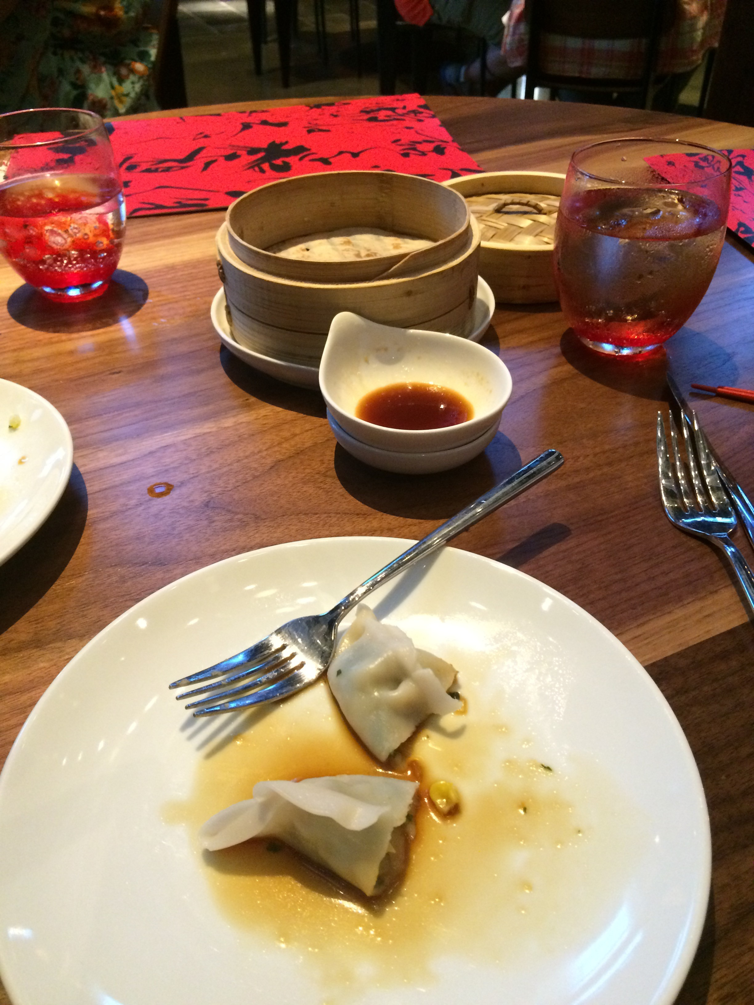 These Vege Dumplings never had a chance.... Yum!