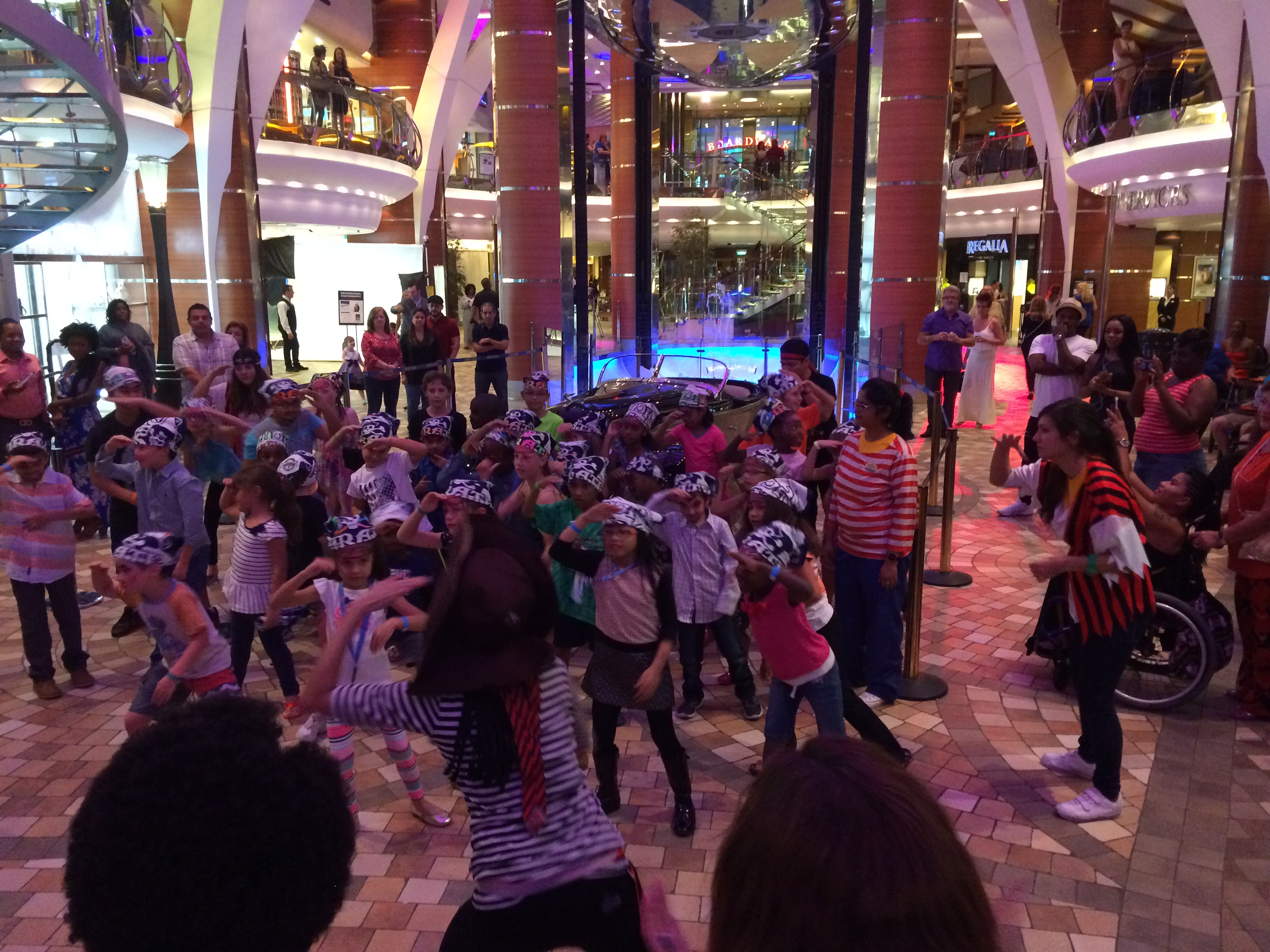 "THE KIDS HAD SOME PRETTY COOL DANCE MOVES, FOLLOWING THE ""CHIEF PIRATE"""
