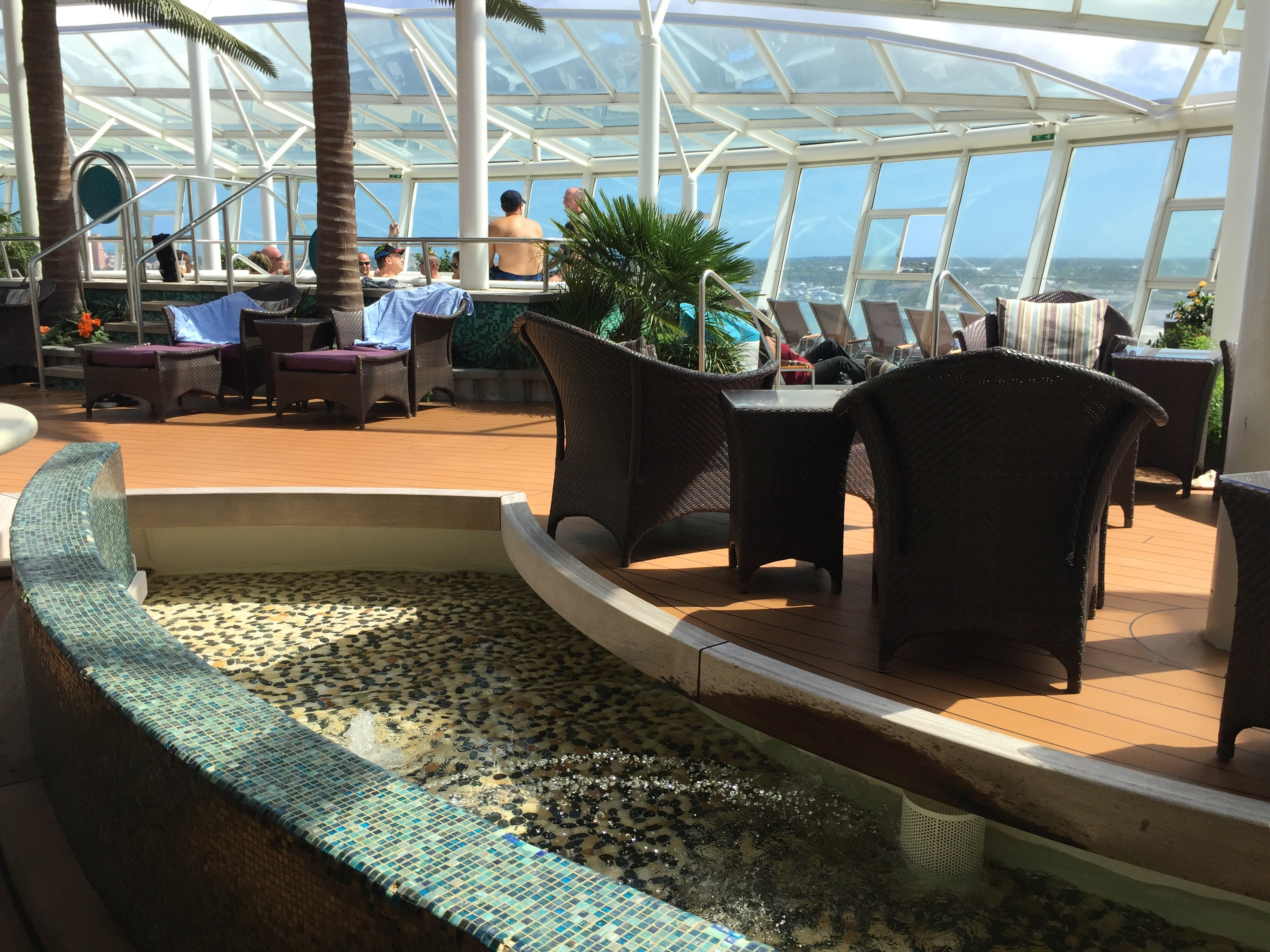 VIEW INTO THE SOLARIUM FROM THE BISTRO SEATING AREA