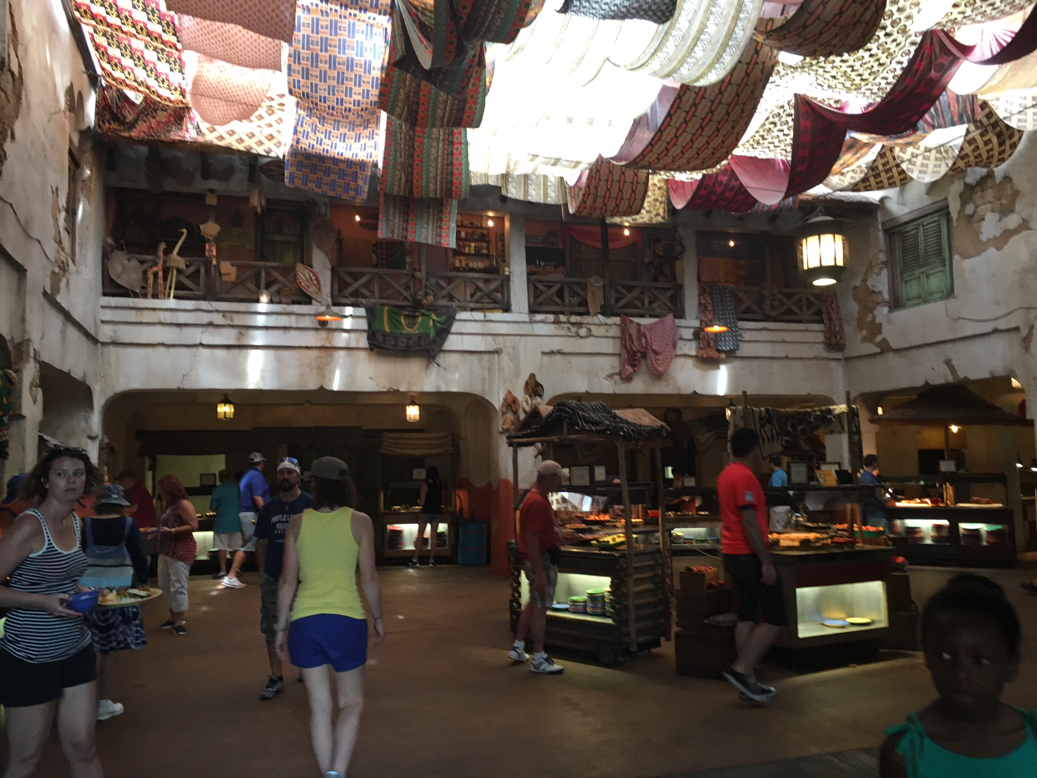 The massive buffet area at the Tusker House