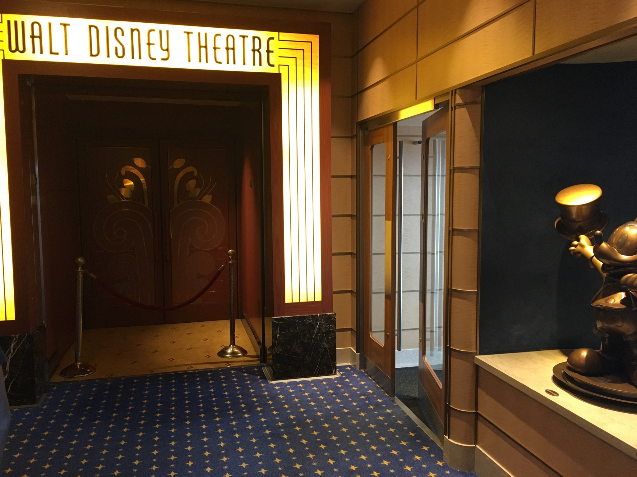 The classy entrance to the Walt Disney Theatre