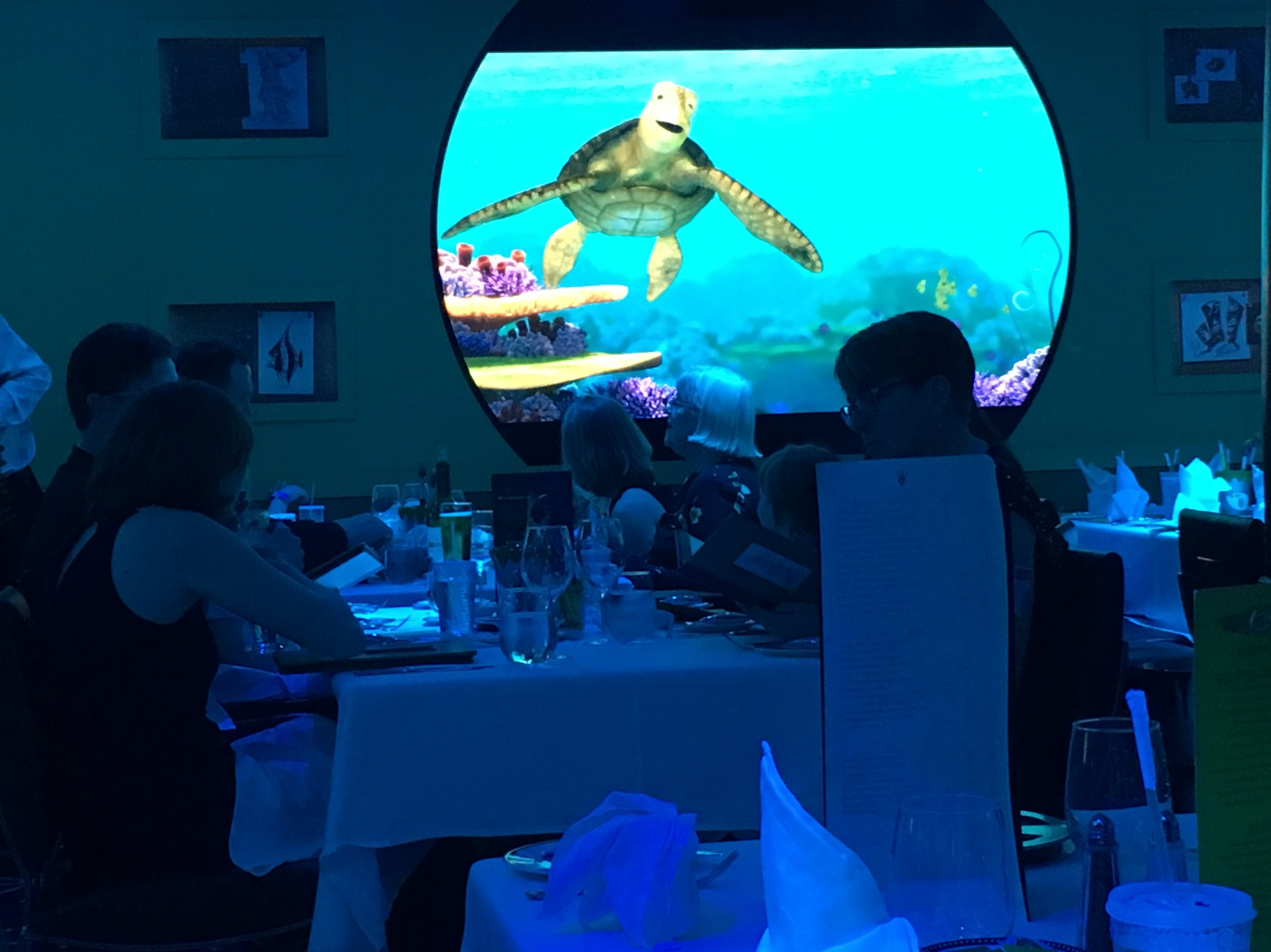 Crush made his appearance a few times throughout the meal and interacted with guests.