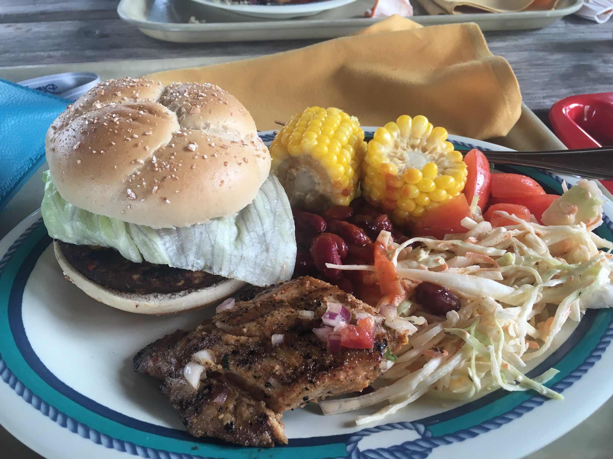 CC CookiesBBQ lunch plate