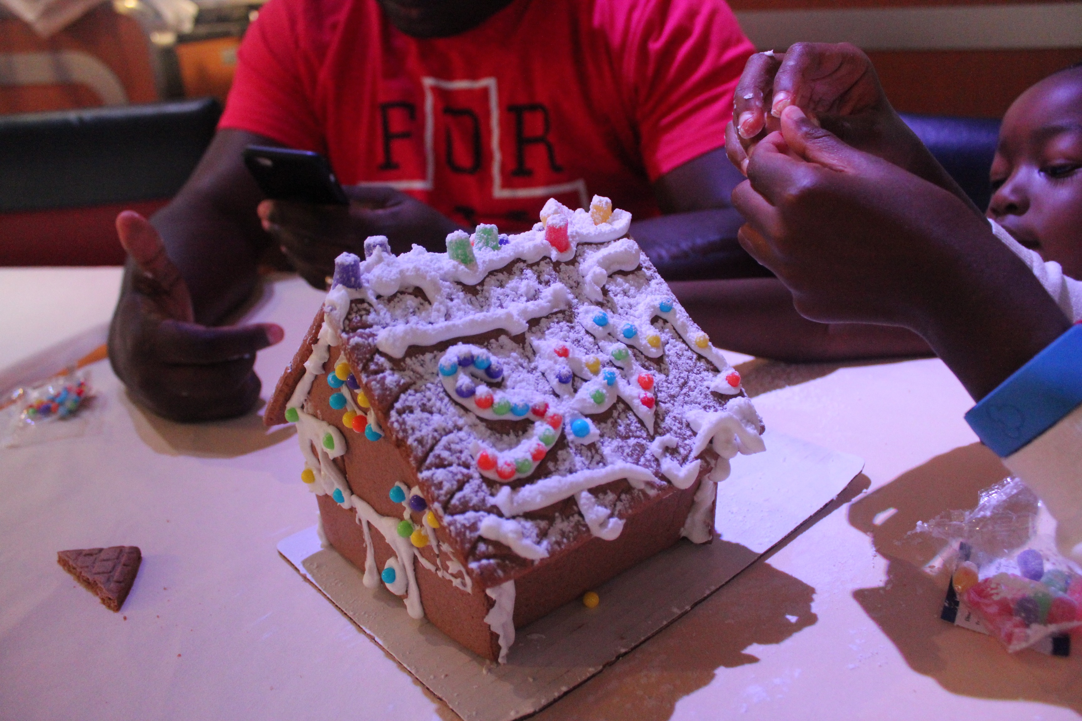 Gingerbread house making disney cruise line