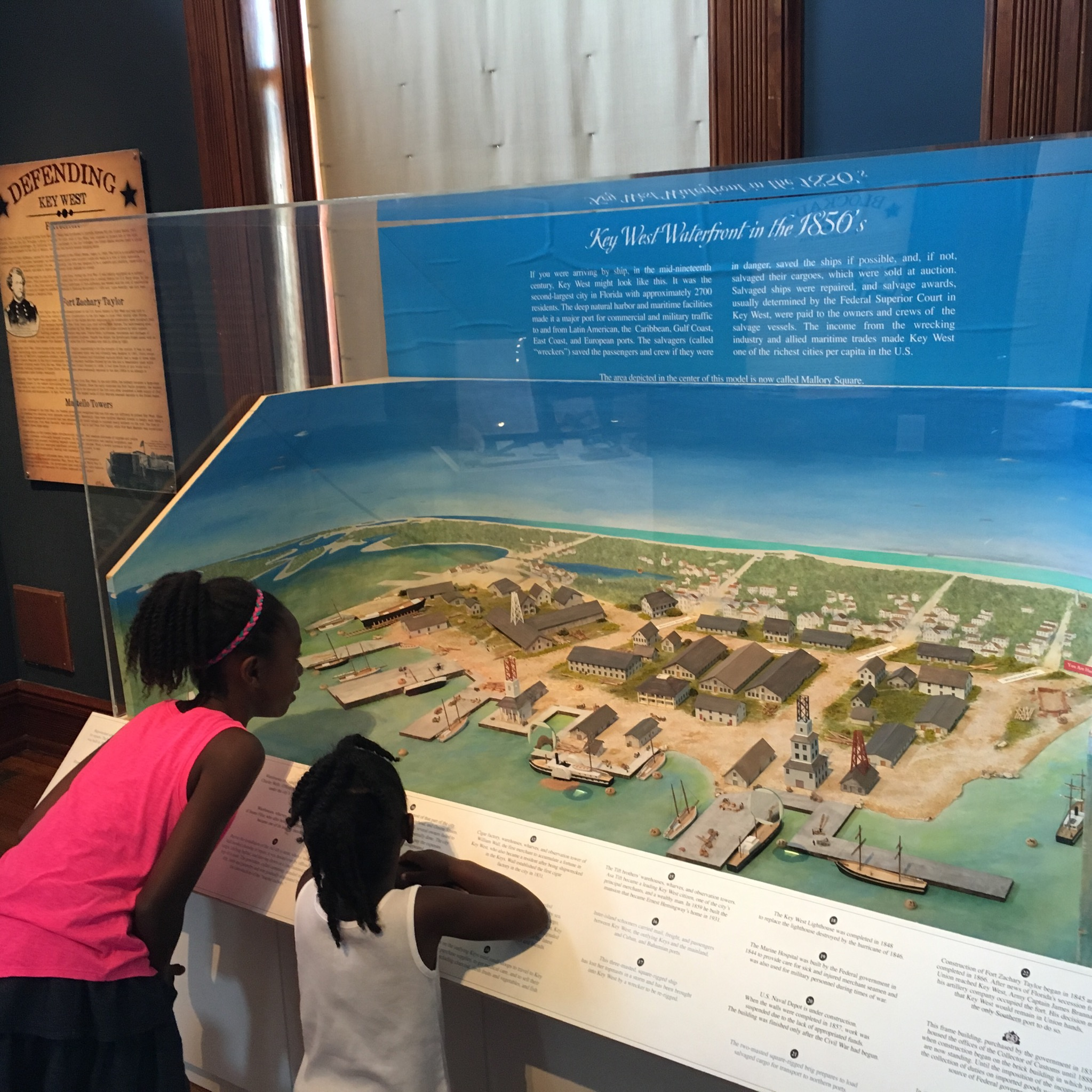 This detailed exhibit of the history of the Key West waterfront held our girls attention for some time...