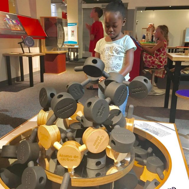 Playing with carbon atoms at the annarborhandson museum Our visithellip