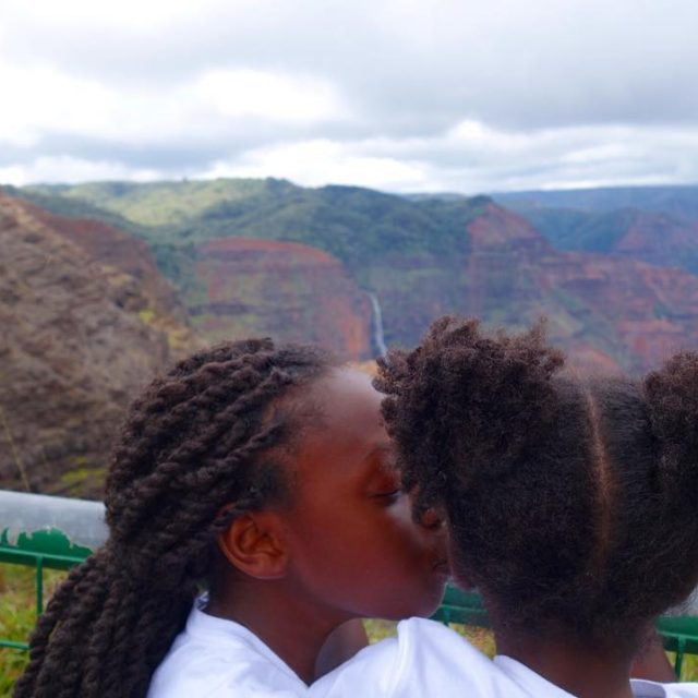 A moment of sister love while taking in the viewshellip