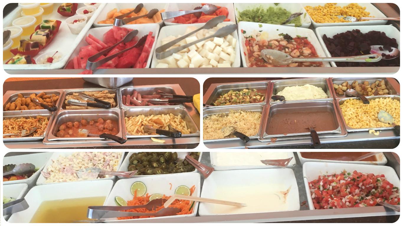 PlayaMia Buffet Collage