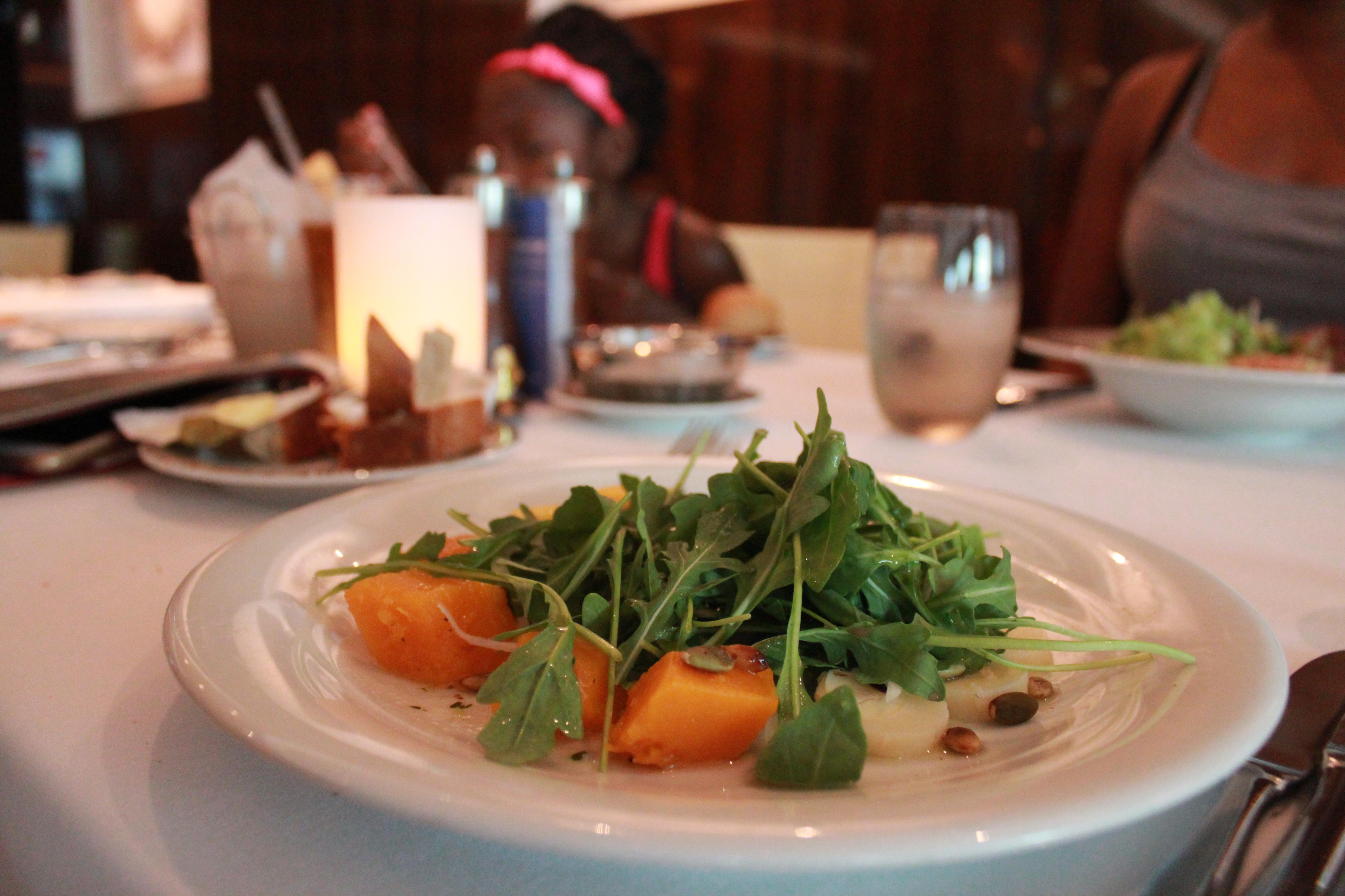 norwegian escape taste-squash-salad dinner