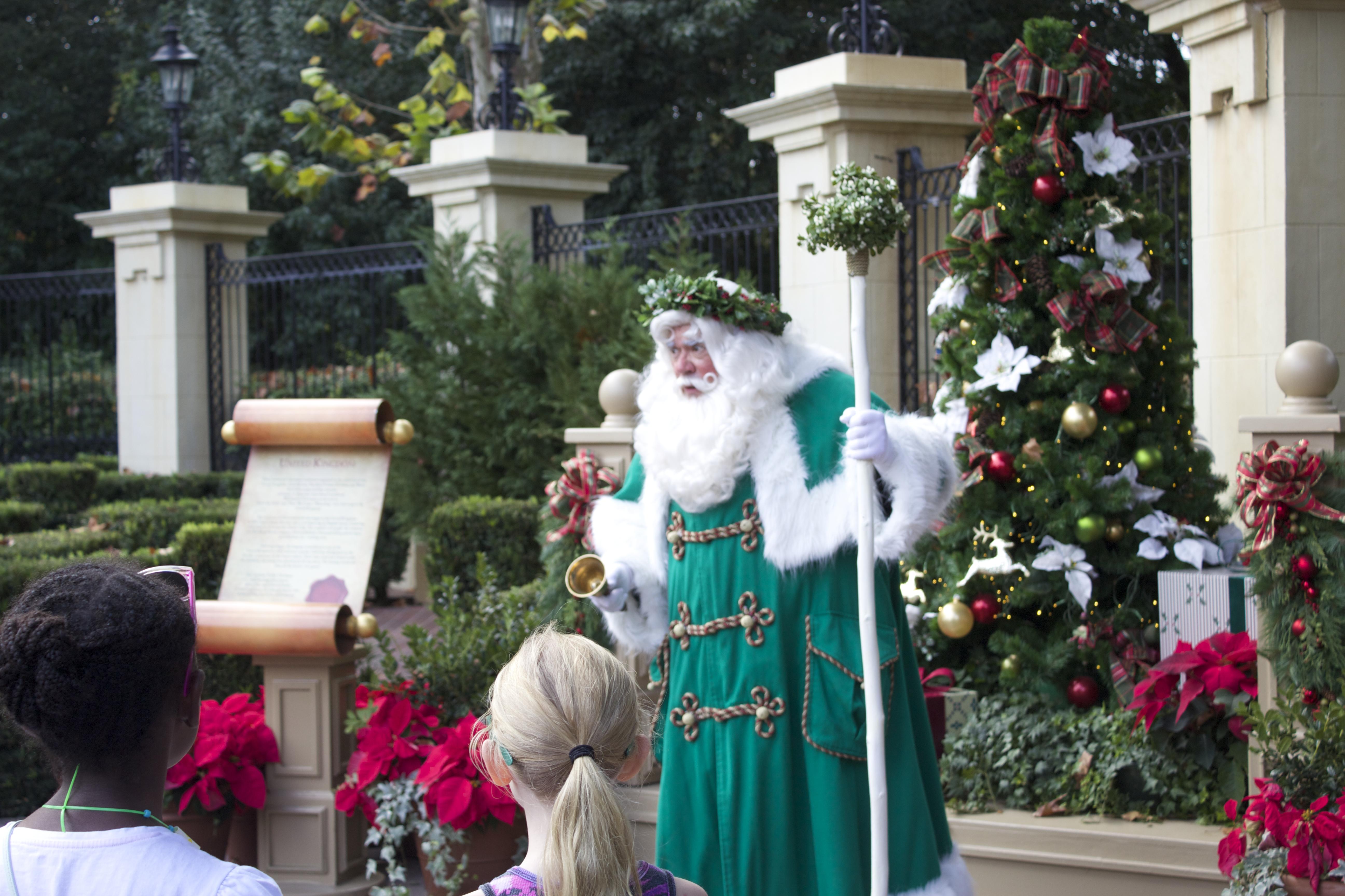 epcot holidays around the world father christmas