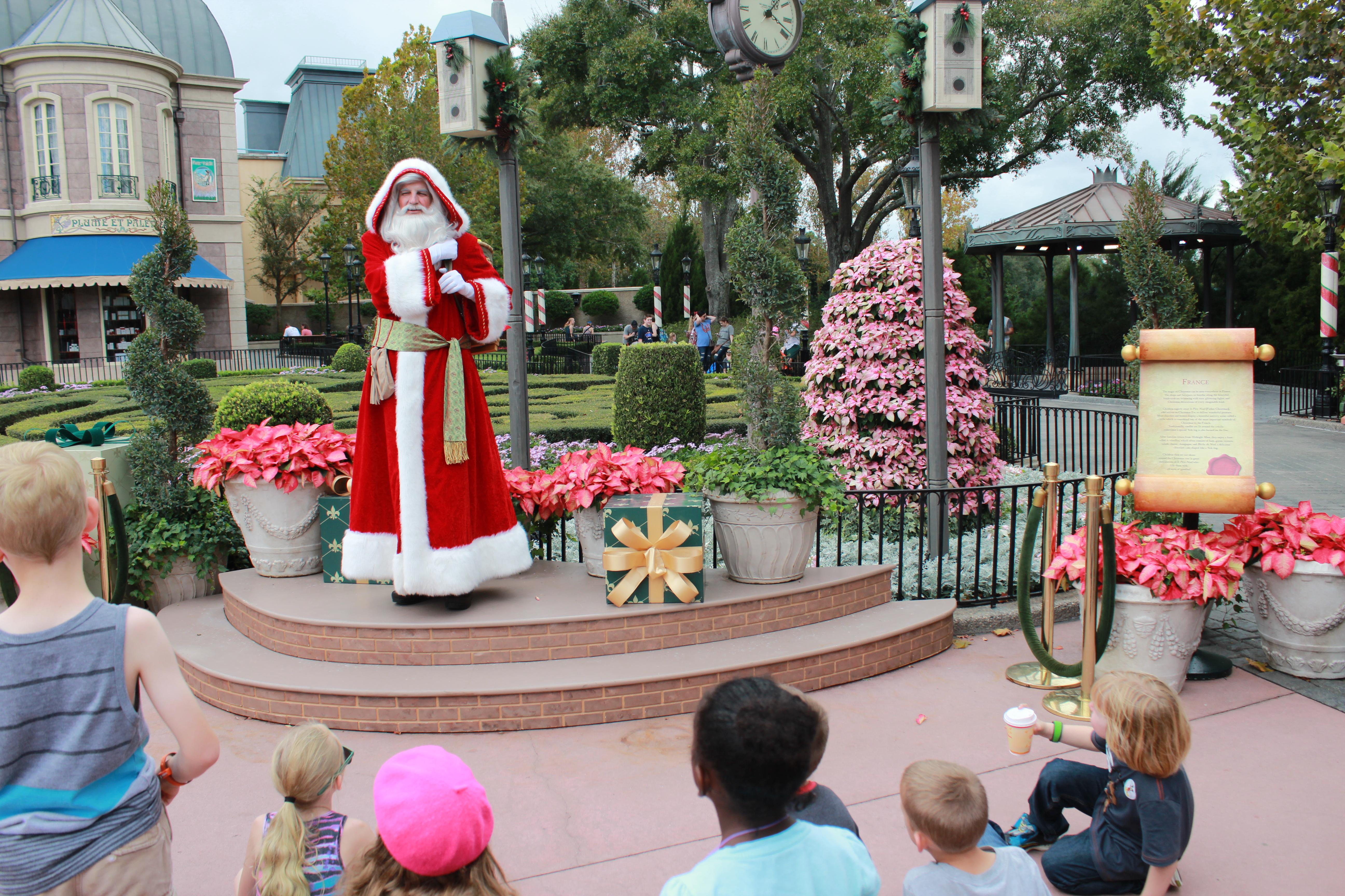 epcot christmas holidays around the world pere noel
