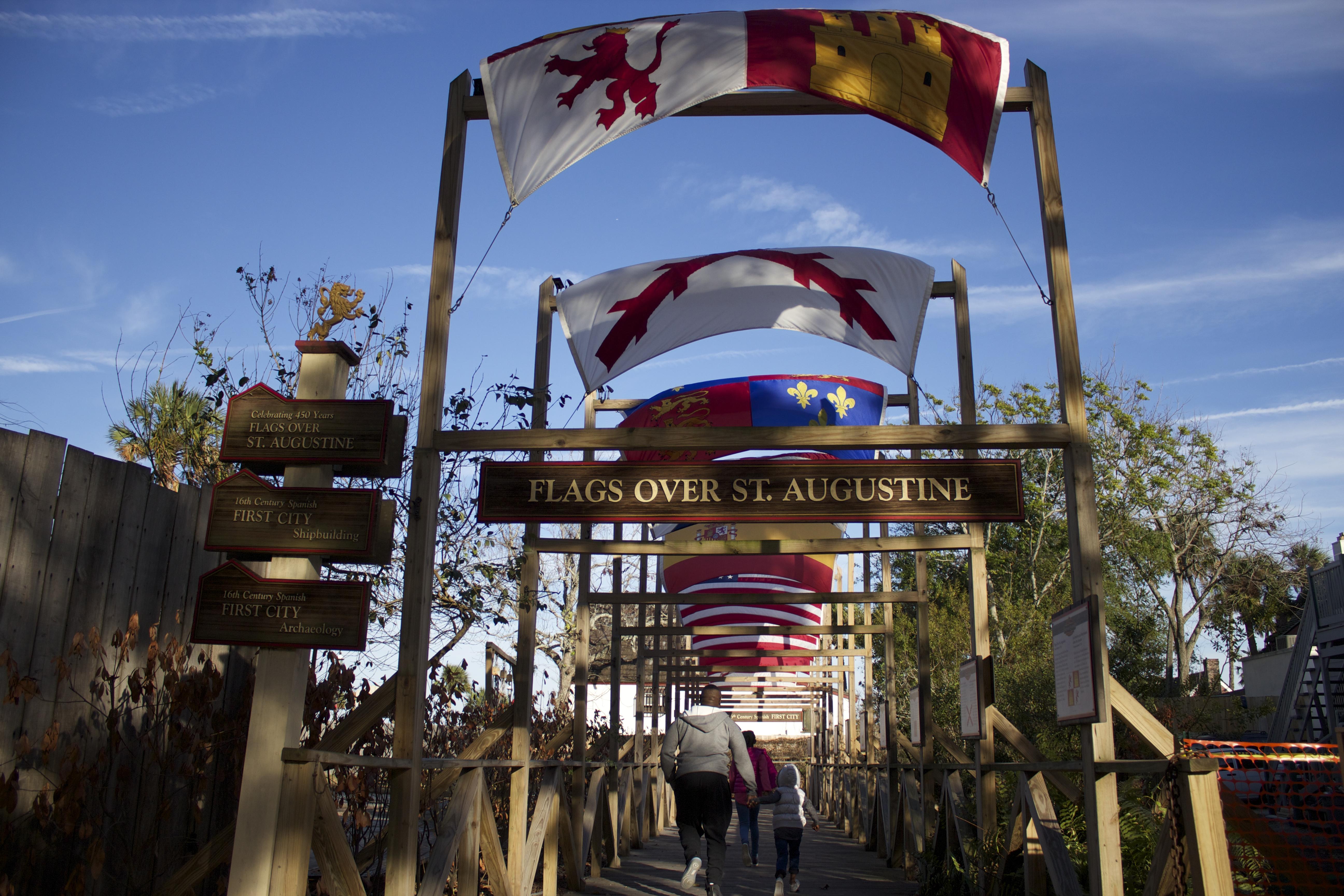 flags colonial quarter st augustine