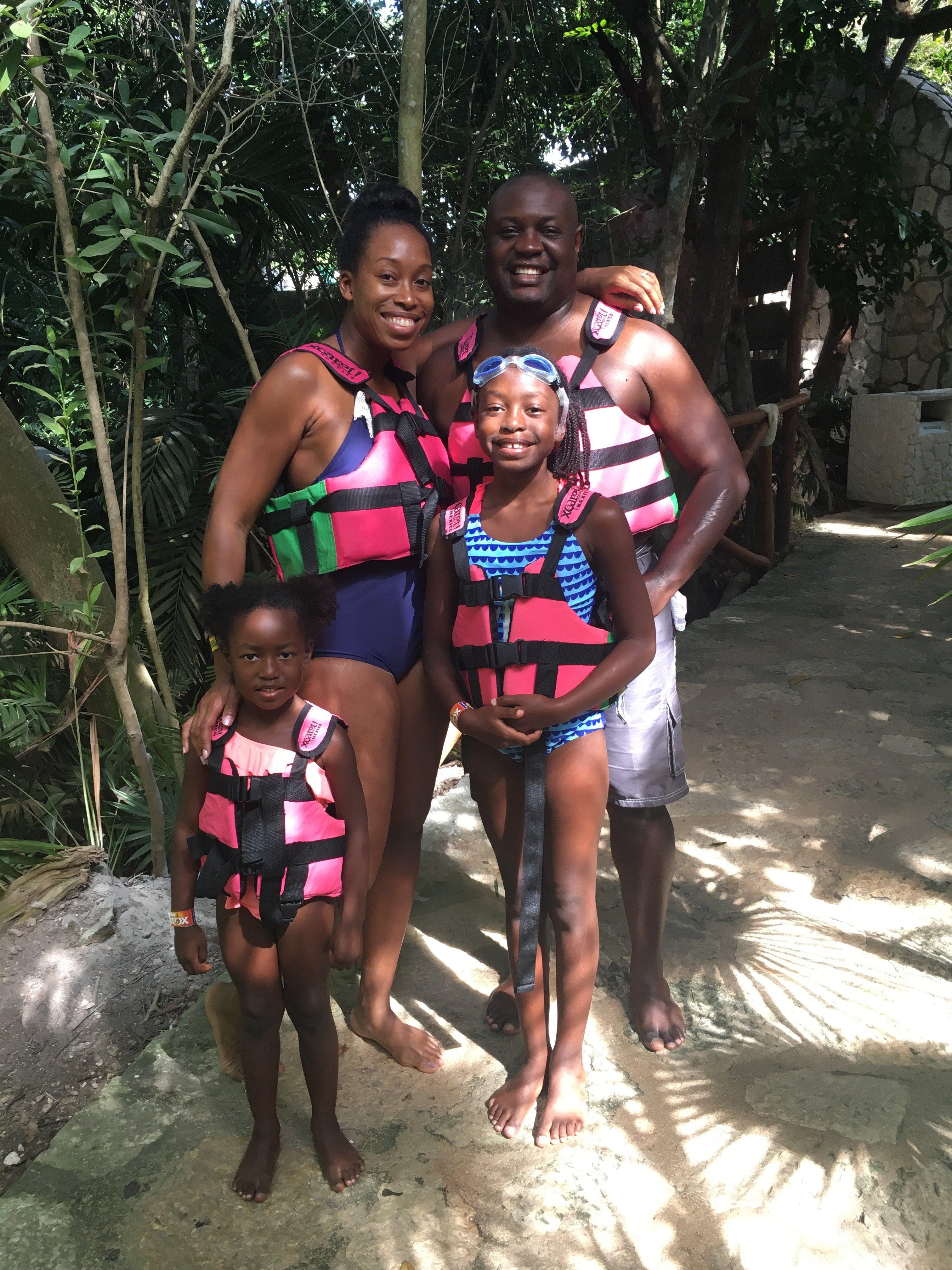 Xcaret cenote river life jackets
