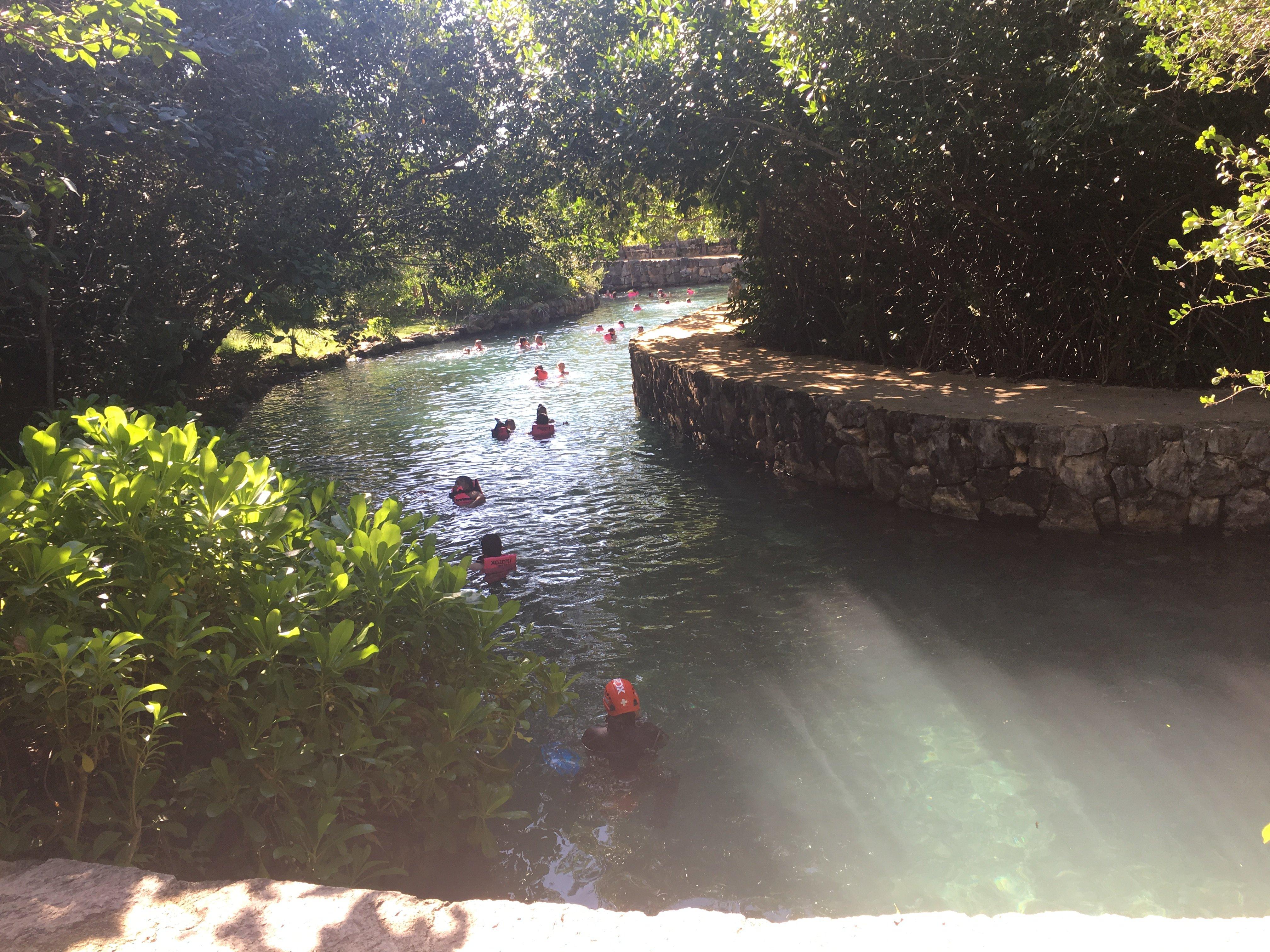 xcaret cenote river