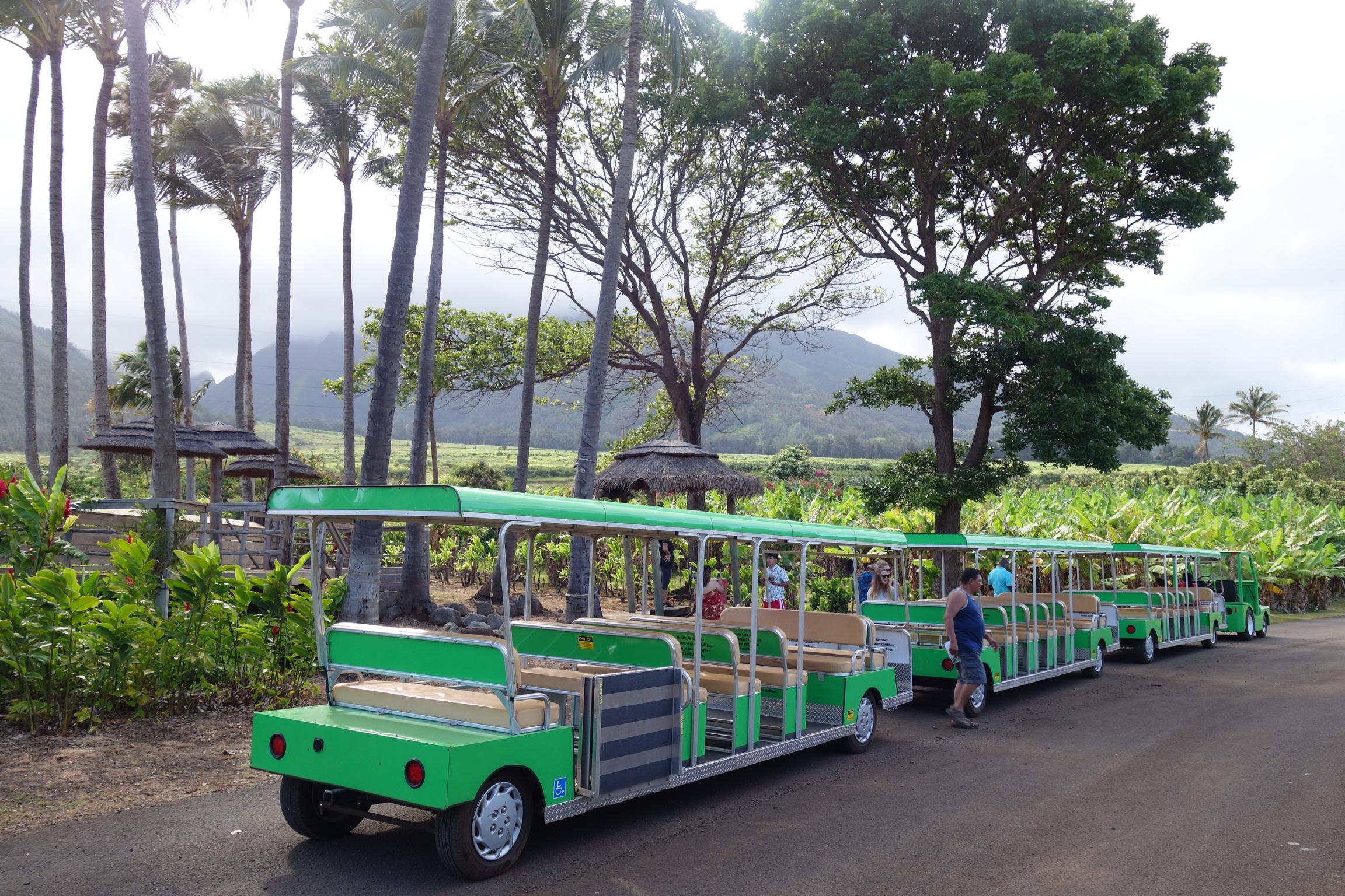 tram tour maui tropical plantation